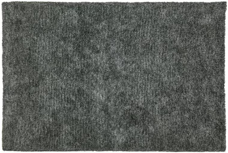 Mikrofaser Teppich Shaggy grau