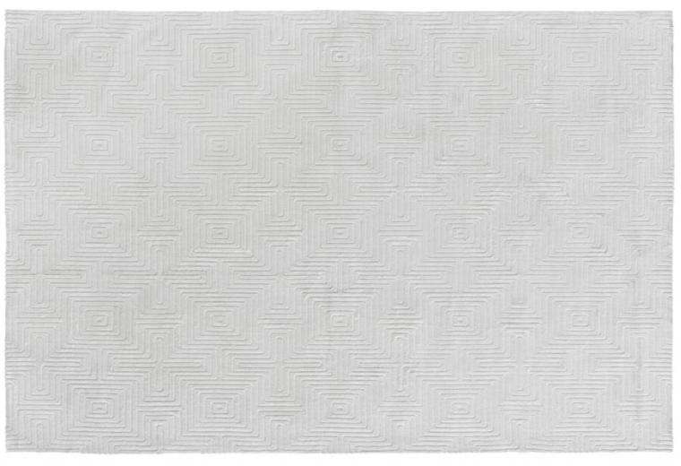 Vintage-Teppich Labyrinth altweiß