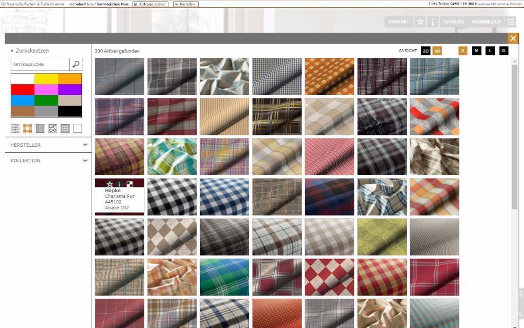 Karo-Stoffe von Höpke Textilverlag