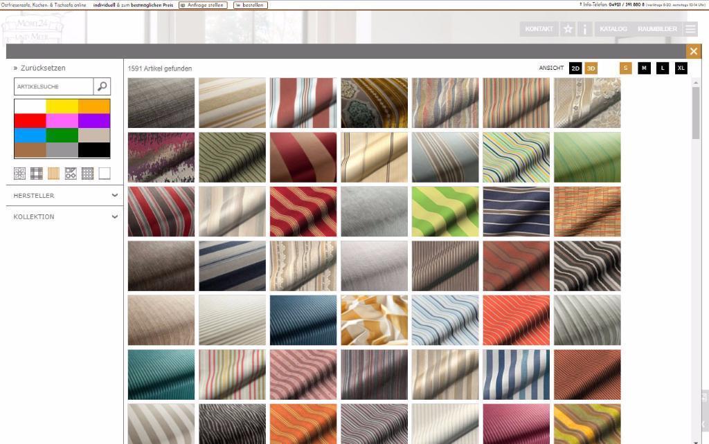 Streifen-Stoffe von Höpke Textilverlag